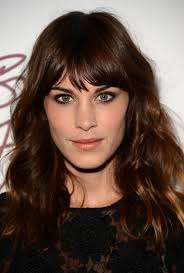 latest hairstyles alexa chung latest hairstyles dark brown wavy hairstyle with