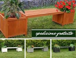 panchina in legno da esterno panchina con fioriere da giardino esterno a genova kijiji
