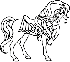 coloring pages for girls of horses in fancy draw print printable