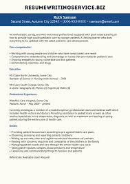 Sample Resume For A Nurse by Pediatric Nurse Resume Sample Resume Writing Service