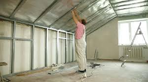 man installing drywall on ceiling stock video footage videoblocks