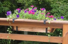 deck railing flower boxes lowes home landscaping