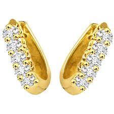 gold earrings with price surat diamond gold diamond earrings s 298 gold earrings