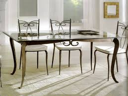 appealing glass top dining room sets design with rectangle table