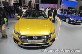volkswagen arteon r line vw arteon r line at iaa 2017 indian autos blog