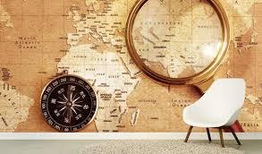 world map wallpaper mural for offices