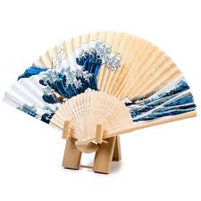 japanese fan fan bamboo stand and wall mount