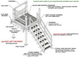 Stair Handrail Requirements Prefabricated Stair Landings