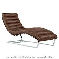 Leather Chaise Lounge Leather Chaise Lounge Chair Mid Century Modern Lounger Industrial