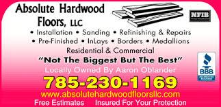 absolute hardwood floors llc topeka ks 66614 yellowbook
