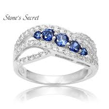 sterling engagement rings images Sterling silver tanzanite engagement rings shupzi jpg