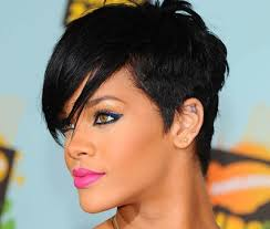 jet black short hair this looks just as sexy jet black and extra textured on rihanna
