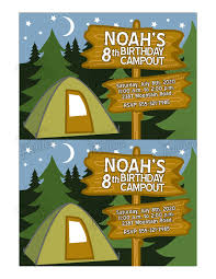 camping party invitations theruntime com