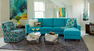 teal blue leather sofa circle furniture bennet sectional modern sectionals boston