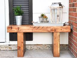 diy outdoor bench free plans cherished bliss