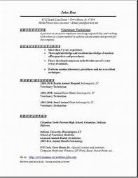 veterinary technician resume exles veterinary technician resume exles