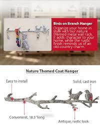 amazon com mother u0027s day gift cast iron birds on branch hanger
