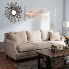 baxton studio mckenna beige linen sofa 28862 4180 hd the home depot