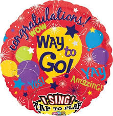 singing balloon singing fame balloon congratulations way to go balloon for you
