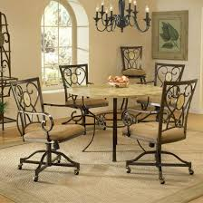 Chair Caster Dining Room Chairs Table With Wheeled Casters Dining - Caster dining room chairs