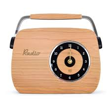 retro wooden clock radio design cherry wood u2013 pineapple retro