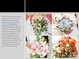 wholesale wedding flowers special discount on wholesale wedding flowers to make the day look