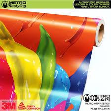 orange vehicle vinyl wrap shades