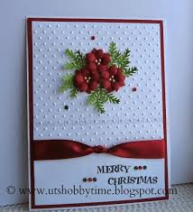 handmade christmas cards uts hobby time christmas card and handmade poinsettia paper