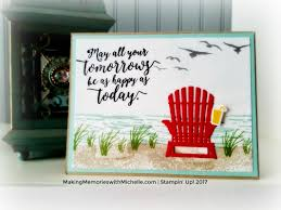 Adirondack Chair Place Card Holders High Tide Colorful Seasons Adirondack Chair Stampin U0027 Up