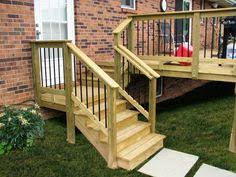 Outside Banister Railings Outdoor Steps With Railing Side Entrance Backdoor Backyard Nj