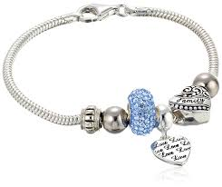 silver charm bead necklace images Charmed beads sterling silver blue crystal love and jpg
