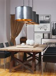 Dining Room Table Lighting Old Farmhouse Dining Room Lighting Black Chrome Legged Wooden