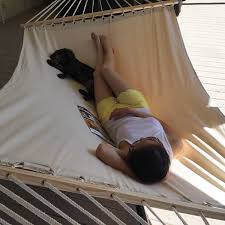 Hanging Patio Swing Chair Outdoor Swing Chair Cotton Double Bed Canvas Hammock Hanging