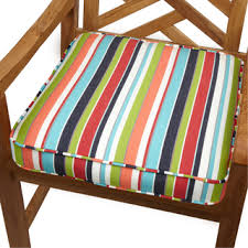 Patio Chair Cushions Sunbrella Multicolor Stripe Indoor Outdoor 20 Inch Chair Cushion With
