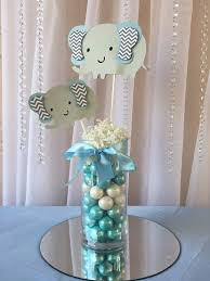 elephant baby shower centerpieces light blue elephant centerpieces stick elephant baby shower