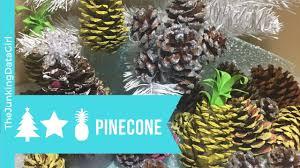 3 diy pinecone christmas ornaments pineapple pinecone pinecone