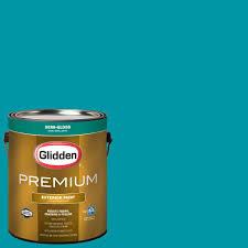 glidden premium 1 gal hdgb27 hawaiian teal semi gloss latex