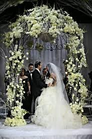 wedding arch nyc glamorous white chuppah huppah nyc capitale anthony vazquez
