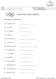 primaryleap co uk olympic events word unscramble worksheet