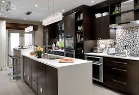 modern kitchen design with espresso cabinets modern kitchen