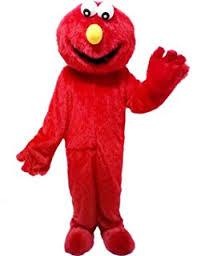 Elmo Halloween Costumes Amazon Elmo Red Monster Mascot Costume Plush Cartoon Costume