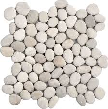 natural ivory pebble tile to refinish fireplace make your house