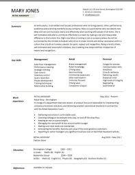 Resume Sles Templates by Retail Cv Template Sales Environment Sales Assistant Cv Shop
