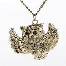 necklace owl images Wingowl vintage owl necklace owlfanworld jpg