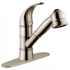 gooseneck kitchen faucet with pull out spray grohe eurodisc single