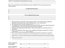 nda free template 20 word non disclosure agreement templates free