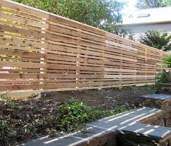 Privacy Fencing Ideas For Backyards Horizontal Wooden Backyard Fence Ideas With Pointed Top Caps Also