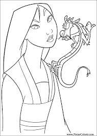 drawings paint u0026 colour mulan print design 017