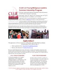 Resume For Summer Internship Clue Los Angeles U2013 Accepting Applications For Our Summer Internship