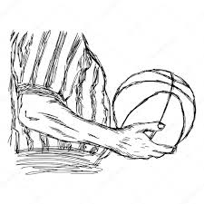 illustration vector doodle hand drawn sketch of closeup referee